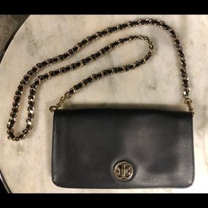 Authentic Tory Burch Black Leather Purse